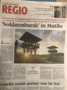 Soldaten Barak in Park Matilo